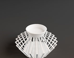 3D print model wire candle holder