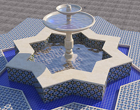 3D model Traditional Moroccan Fountain
