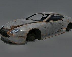 Wrecked Aston Martin DB7 3D asset