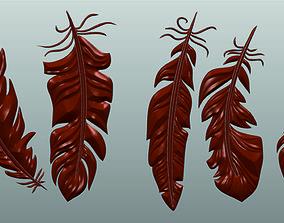 3D printable model Feathers Set CNC