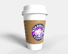 PBR Starbucks Coffee Cup - Customized 3D asset game-ready