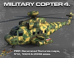 MILITARY COPTER 4 3D asset airforce