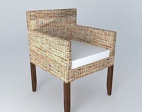 Hampton armchair houses the world 3D