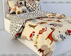 blanket 3D model Double Bed Bed Linen