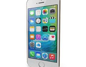 3D asset Apple iPhone SE Gold