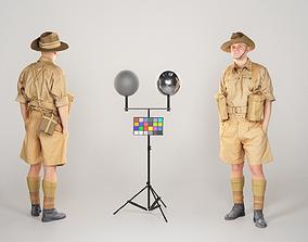 3D asset Australian infantryman character from World War 3