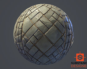 Substance Designer Stylized Floor 3D asset VR / AR ready