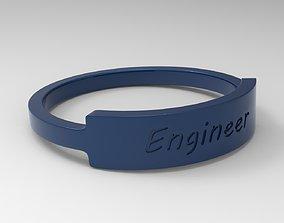 3D print model Engineer Female Ring Blue