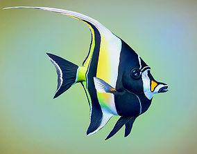 Fish Zanclus Cornutus 3D asset