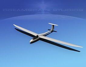 3D model rigged Venture Sailplane