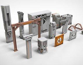 sci-fi Architecture kitbash 7 3D