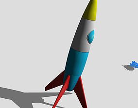 rocket 3D model VR / AR ready