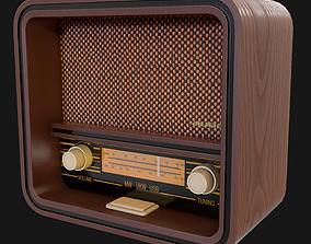 3D asset game-ready Retro Radio
