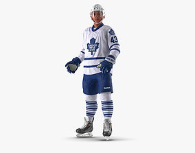 Hockey Player Toronto Maple Leafs Rigged 3D