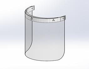 3D Printable face shield