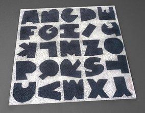 Paper Cutout Alphabet Carpet 3D model