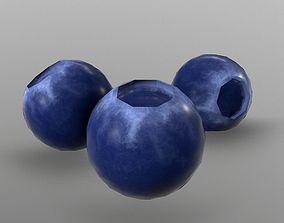 3D model VR / AR ready produce Blueberry