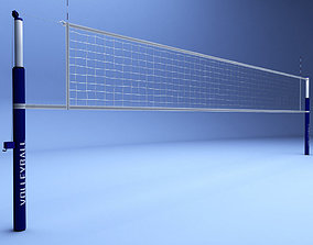 3D asset Volleyball net low poly