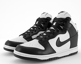 3D asset Nike Dunk High Black PBR
