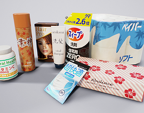 3D model Japanese Household Items Pack