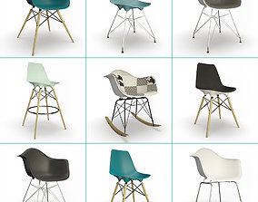 Eames Furniture Collection Vitra 3D