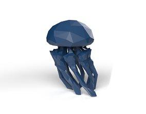 Jellyfish Low Poligonal 3D asset
