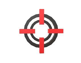 Crosshair Symbol v9 001 3D asset