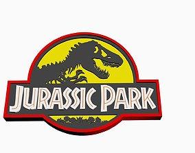 3D print model Jurassic Park Logo -