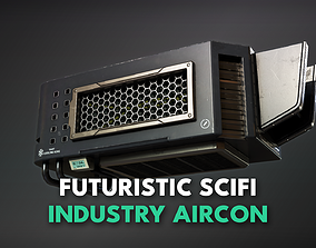 Futuristic Scifi Industry Aircon- Game Ready - 3D asset