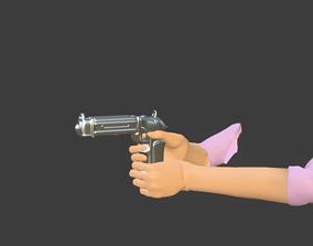 3D model Futuristic pistol rigged
