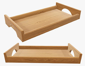 3D Tray wooden with handles tableware