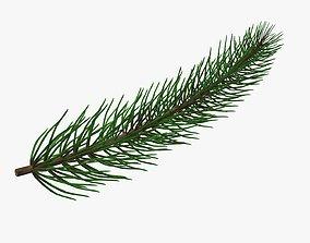 Fir tree branch 01 3D