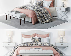 3D model Pottery Barn Raleigh Bed 3 pink