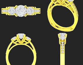 Collection of 20 ladies diamond rings - 3D printable model