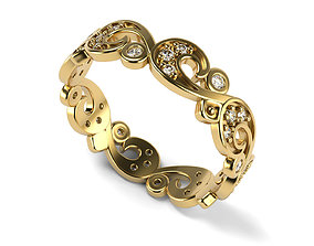 3D print model Gorgeous Streamline Pattern Ring