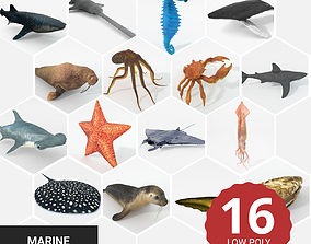 3D model 16 Marine Animals Pack - Colletion