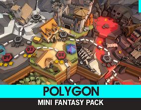 3D model VR / AR ready POLYGON MINI - Fantasy Pack