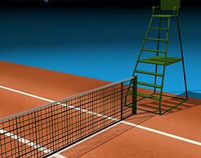 Tennis field 3D model