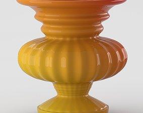 Laquered decorative vase 3D model