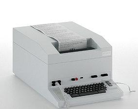 Telex machine 3D