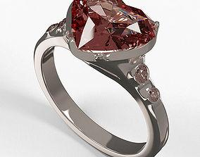 stone 3D Diamond Ring