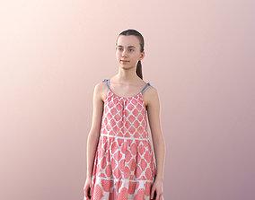 Mady 10111 - Teenage Girl Walking In Summer Dress 3D asset