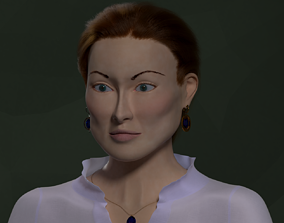 character Woman face 3D model