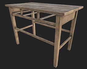 Wooden Table 1 PBR 3D model