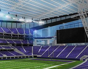 US Bank Stadium - Minnesota 3D asset