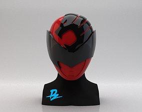 3D printable model Mask Kyuranger Sishi Red