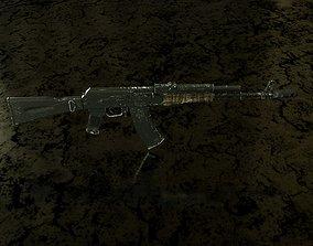 3D asset VR / AR ready AK-74M army