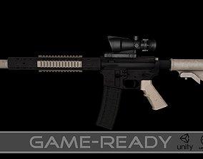 3D asset AR15 Assault Rifle