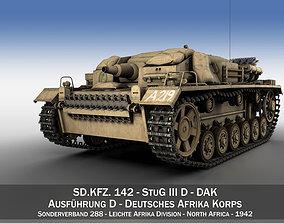 panzer3 3D model StuG III - Ausf D - DAK