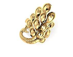 ring peacock 3D printable model